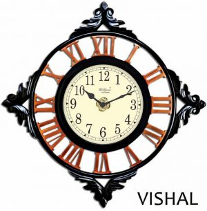 Wellgain VM-C-752 Hand Carved Carving Clock with One Year Warranty Made in India