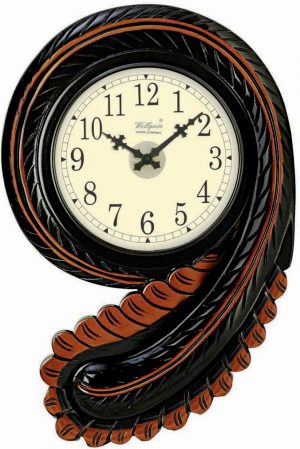 Wellgain VM-C-757 Hand Carved Carving Clock with One Year Warranty Made in India