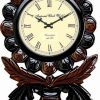 Wellgain VM-C-759 Hand Carved Carving Clock with One Year Warranty Made in India