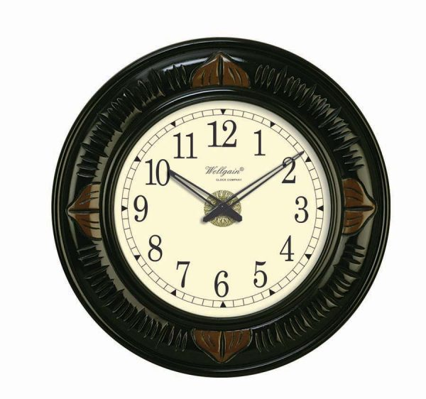Wellgain VM-C-761 Hand Carved Carving Clock with One Year Warranty Made in India