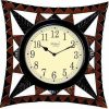 Wellgain VM-C-767 Hand Carved Carving Clock with One Year Warranty Made in India