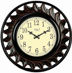 Wellgain VM-C-764 Hand Carved Carving Clock with One Year Warranty Made in India