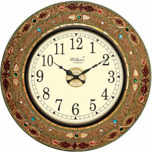 Wellgain VM-MQ-406 Hand Carved Mosaque Clock with One Year Warranty Made in India